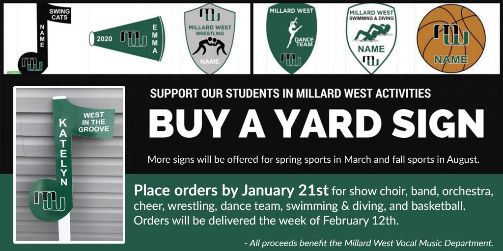 Millard West Yard Signs